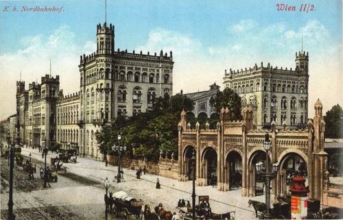 Старая открытка с видом на Северный вокзал (ок. 1900 г.)