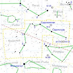 Созвездие Водолея на современных астрономических картах