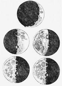 Зарисовки Луны из рабочей тетради Галилея