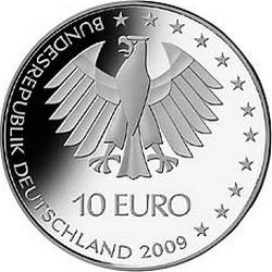 Германия, 10 евро, ЧМ по лёгкой атлетике в Берлине 2009, реверс