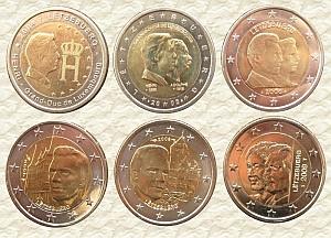 На всех памятных монетах Люксембурга имеется портрет Герцога Анри Нассау