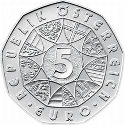 Австрия, 2009, 5 евро, Сопротивление Тироля 1809 года, аверс