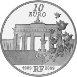 Франция 10 евро, Берлинская стена, реверс