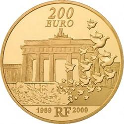 Франция 200 евро, Берлинская стена, реверс