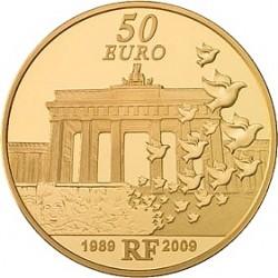 Франция 50 евро, Берлинская стена, реверс