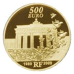500 евро, Франция, падения Берлинской стены, реверс