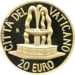 Ватикан, 2005, 20 евро, реверс