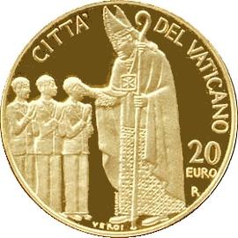 Ватикан 20 евро 2006, реверс
