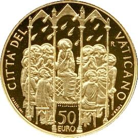 Ватикан 50 евро 2006, реверс