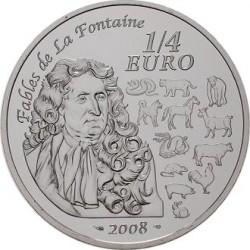 "Франция 2008. 1/4 евро. ""Китайский календарь"""