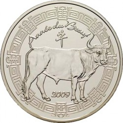 "Франция 2009. 5 евро. ""Китайский календарь"""