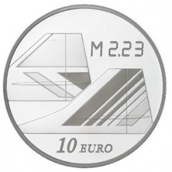 Франция 2009, 40 лет Конкорду, 10 евро, реверс