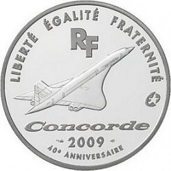 Франция 2009, 40 лет Конкорду, 10 евро, аверс
