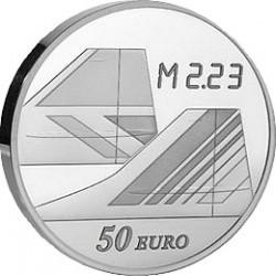 Франция 2009, 40 лет Конкорду, 50 евро (серебро), реверс