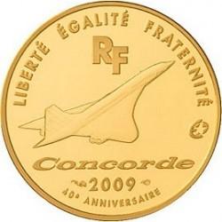 Франция 2009, 40 лет Конкорду, 50 евро (золото), аверс