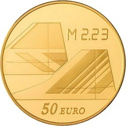 Франция 2009, 40 лет Конкорду, 50 евро (золото), реверс