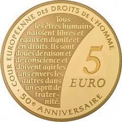 Франция, 2009, 5 евро, Европейский суд по правам человека, аверс