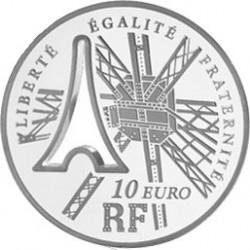 Франция, 220 лет Эйфелевой башне, 10 евро, реверс
