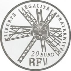 Франция, 220 лет Эйфелевой башне, 20 евро, реверс