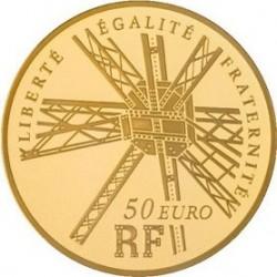 Франция, 220 лет Эйфелевой башне, 50 евро, реверс