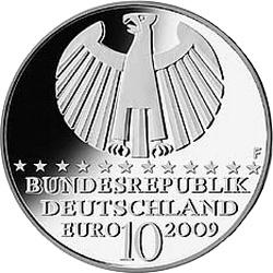 Германия, 10  евро, законы Кеплера, реверс