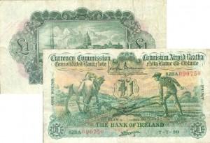 1£ с пахарем, Ирландия