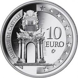 Мальта, 2008, 10 евро, Auberge de Castille, аверс