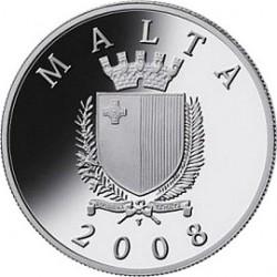 Мальта, 2008, 10 евро, Auberge de Castille, реверс