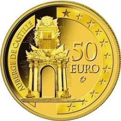 Мальта, 2008, 50 евро, Auberge de Castille, аверс