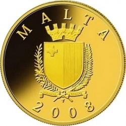 Мальта, 2008, 50 евро, Auberge de Castille, реверс