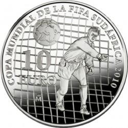 Испания, 10 евро, ЧМ по футболу-2010, реверс