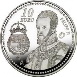 Испания, 2009 , Филипп II, 10 евро, реверс