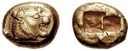 Статер из Лидии, нач. VI в. до н.э. (6,71 г)