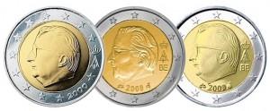 Бельгийские евро стандартной чеканки всех разновидностей