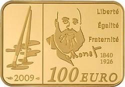 Франция, 2009, 100 евро, Клод Моне, аверс