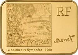 Франция, 2009, 100 евро, Клод Моне, реверс