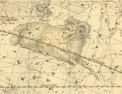 Овен на Звездном атласе А.Джеймсона, 1822 г.