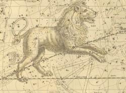 Лев на Звездном атласе А.Джеймсона, 1822 г.