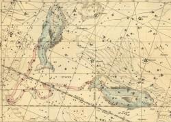 Рыбы на Звездном атласе А.Джеймсона, 1822 г.