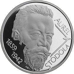 Словакия, 2009, 10 евро, Аурель Стодола, реверс