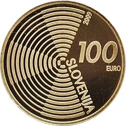 Словения, 2009, 100 евро, Edvard Rusjan, аверс