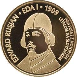 Словения, 2009, 100 евро, Edvard Rusjan, реверс
