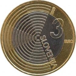 Словения, 2009, 3 евро, Edvard Rusjan, аверс
