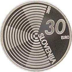 Словения, 2009, 30 евро, Edvard Rusjan, аверс