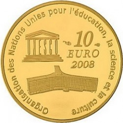 Франция, 10 евро, 2008, Большой каньон, реверс