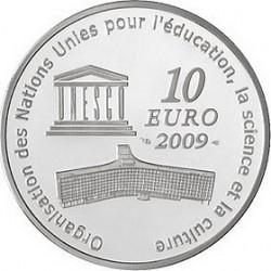Франция, 10 евро, 2009, ЮНЕСКО - Московский Кремль, реверс