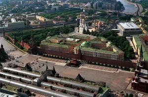 Вид Кремля с воздуха