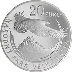 Словакия, 2009, Велька Фатра, 20 евро, реверс
