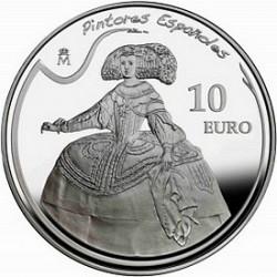 Испания, 2008, 10 евро, Веласкес, реверс