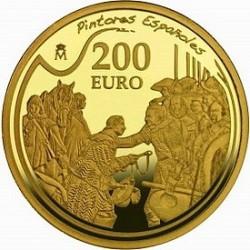 Испания, 2008, 200 евро, Веласкес, реверс